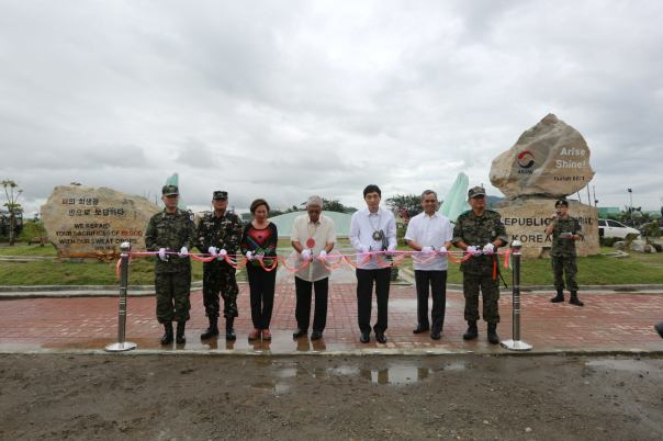 SYMBOL OF ARAW. Philippine government officials led by Defense Sec. Voltaire Gazmin graced the ribbon-cutting ceremony of the Araw Shrine in Leyte. (Photo by: Office of the Civil Military Operations (U7), Central Command, AFP)